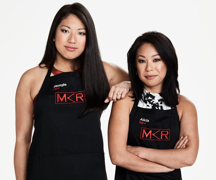**Confident sisters:** Georgie, 25 & Alicia, 30, NSW   **Should the other contestants be threatened by your team?**  **Alicia:** We talk a big game, but we know that we can do the cooking to prove it.  **Georgie:** We have what it takes to win this!