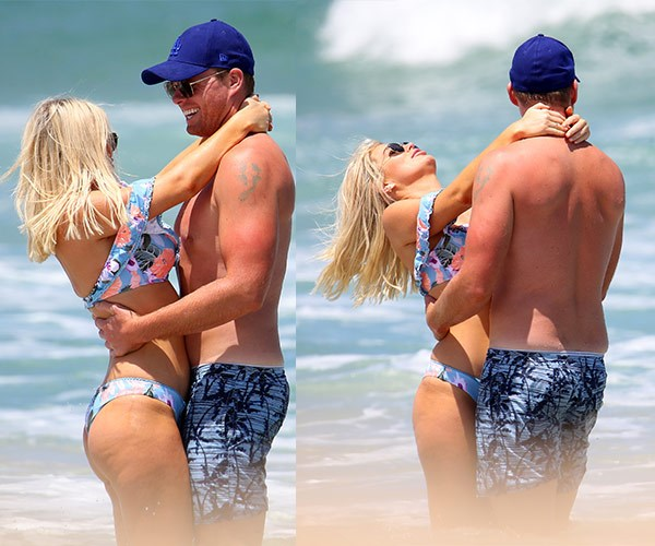 Keira Maguire and Jarrod Woodgate enjoying at Iluka beach in Northern NSW
