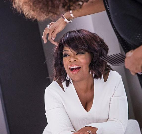 "And a choppy crop to top it off! ""A sassy shag that gave Oprah her fringe back."""