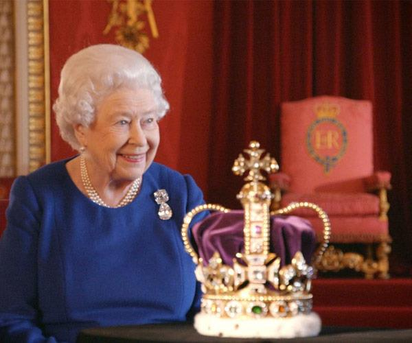 The St. Edward's Crown can only allowed to be handled by three people in the world: the Queen, the Archbishop of Canterbury, and the crown jeweler.