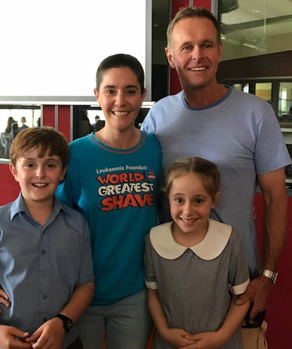 Carmen with her husband, David, and children Charlie (10) and Ruby (seven). *Photo: supplied*