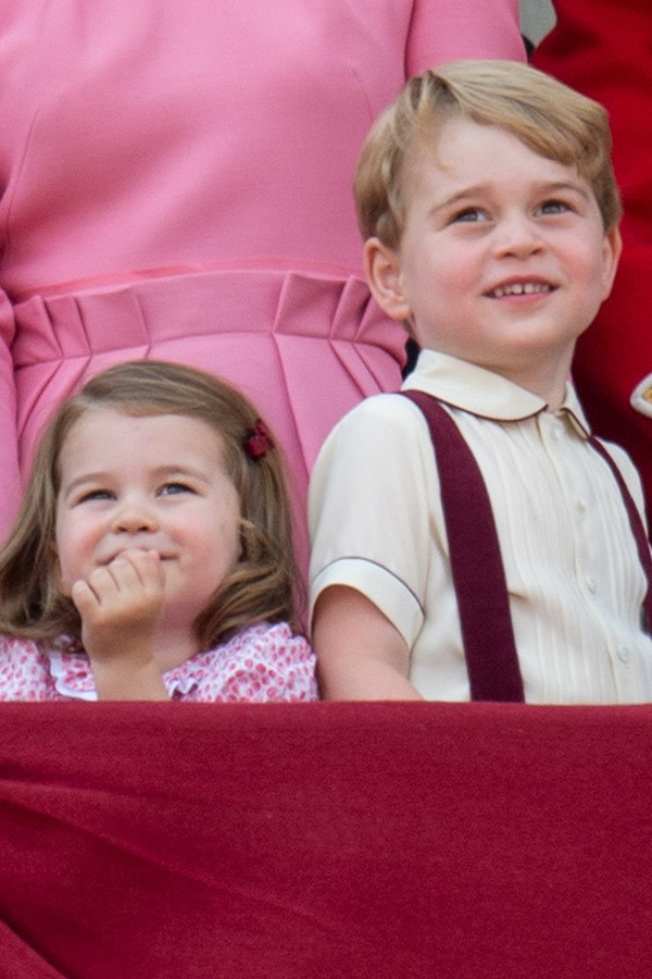 It's believed Prince George and Princess Charlotte will remain at home due to their schooling.