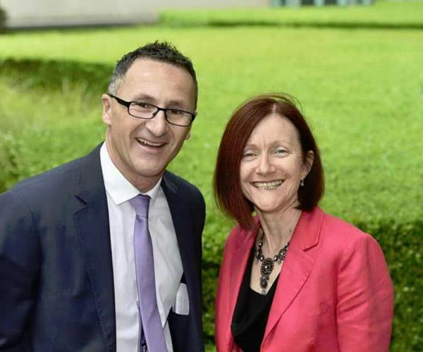 Richard Di Natale and Rachel Siewert. *Source: The Australian Greens*