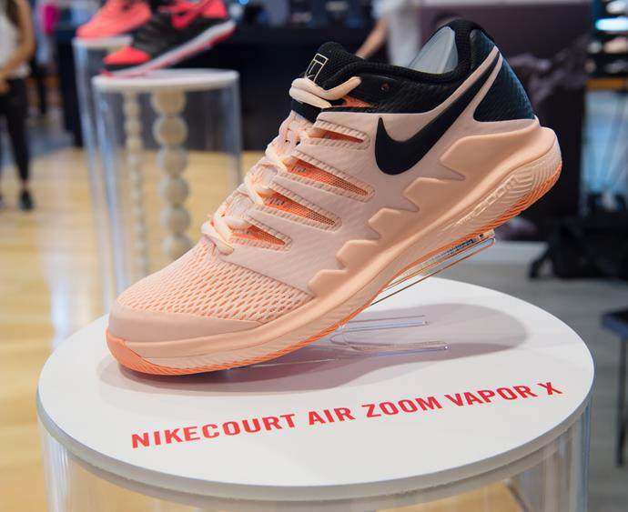 "Get a good grip on the court with [Nike's Court Air Zoom Vapor X tennis shoe, $220.](https://www.nike.com/au/t/nikecourt-air-zoom-vapor-tennis-shoe-1qTbMO00/AA8030-660|target=""_blank""