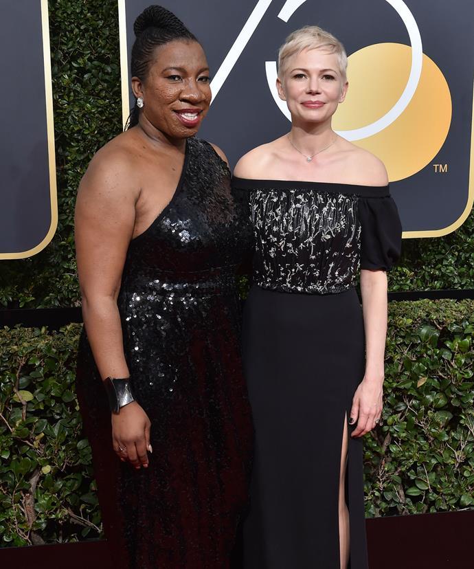 Michelle recently walked the Golden Globes red carpet alongside #MeToo founder Tarana Burke.