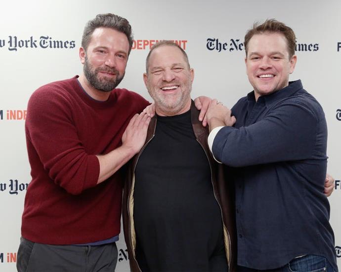 Ben Affleck, Harvey Weinstein, and Matt Damon