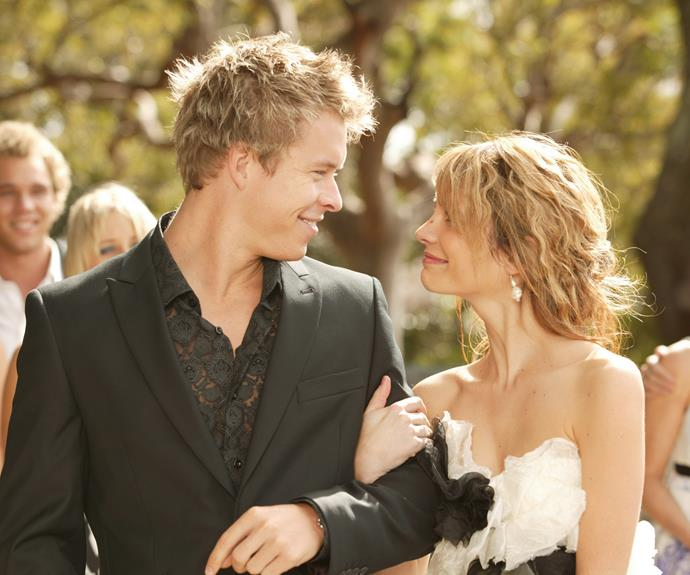 **Aden and belle's Wedding (2009) **  There's not a dry eye in the house when terminally ill Belle (Jessica Tovey) marries Aden (Todd Lasance). Belle tries to keep her cancer a secret from her fiancé so they can have a happy wedding. But Aden finds out the night before and is so devastated, he almost calls off the nuptials. Aden keeps Belle waiting right until the last minute. Eventually, he decides there's nothing he'd rather do than help his true love live out her final days in wedded bliss.
