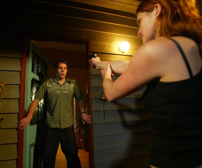 **Deadly Summer Bay siege (2004) **  After deranged killer Sarah Lewis (Luisa Hastings Edge) escapes from the psychiatric hospital, she makes a beeline for Summer Bay, where she'd wreaked havoc previously. Determined to get revenge, Sarah holds a terrified group hostage at Leah's house. Dani races to stop her, with police in tow. But Dani is too late and three shots are fired. Viewers are stunned when they find out Noah is dead.