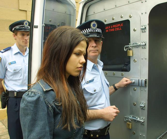 **Dani goes to jail (2003) **  Life in Summer Bay is pretty unfair for Dani (Tammin Sursok). The schoolgirl is raped by Kane, who later becomes romantically involved with Dani's younger sister Kirsty. Then, while out driving one night, an emotional Dani hits Kane with her car. It's an accident, but she has a hard time convincing the court it wasn't an act of revenge. The troubled teen is found guilty of attempted murder and sent to jail.