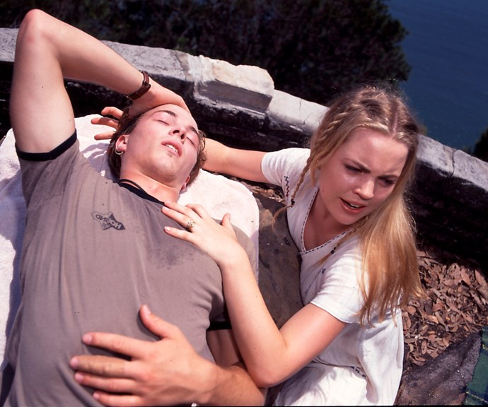"**Shane's shock death (1996) **  On their first wedding anniversary, Shane (Dieter Brummer) and Angel (Melissa George) are having a picnic at a local lookout with their son, Dylan (Corey Glaister), when Shane suddenly begins to feel unwell. ""I think you'd better get a doctor,"" he utters before losing consciousness. A panicked Angel tries to revive him as they wait for an ambulance. Sadly, Shane is declared dead at the hospital. He had contracted septicaemia via a cut on his finger."