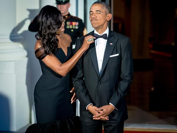 """Roses are red, violets are blue. You are the president and I am your boo,"" Michelle lovingly joked of her husband during his Presidency."