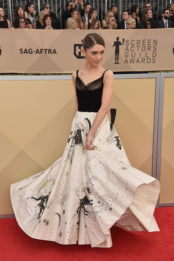 *Stranger Things*  Natalia Dyer gives us a twirl.