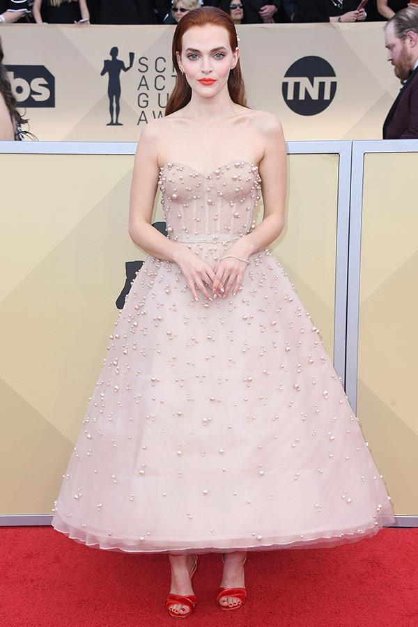 *Orange Is the New Black*'s Madeline Brewer stuns in this strapless princess dress.