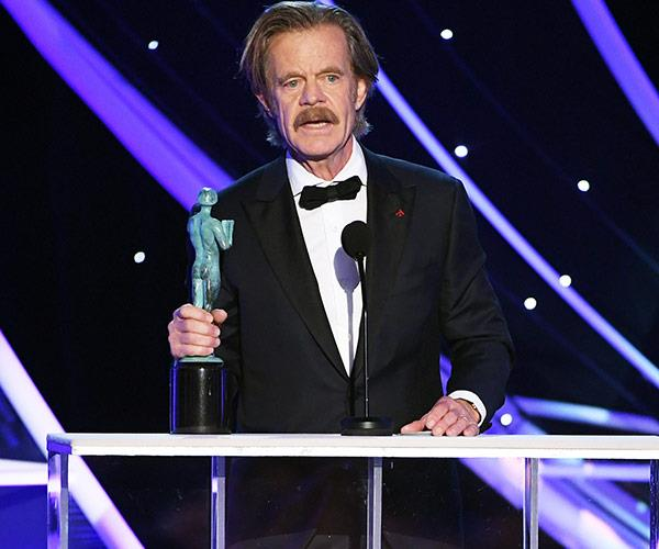 *Shameless* star William H. Macy picks up the Outstanding Performance by a Male Actor in a Comedy Series gong.