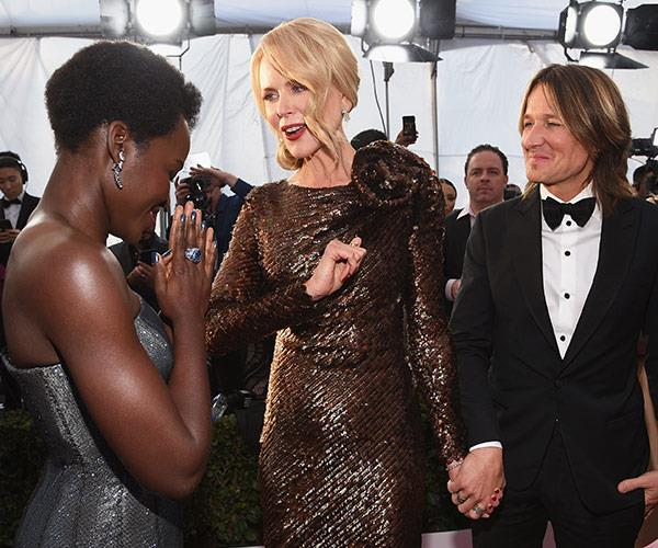 "[Nic and Keith](https://www.nowtolove.com.au/celebrity/celeb-news/nicole-kidman-screen-actors-guild-awards-2018-44406|target=""_blank"") literally never let go of each other's hands and it's making us swoon."