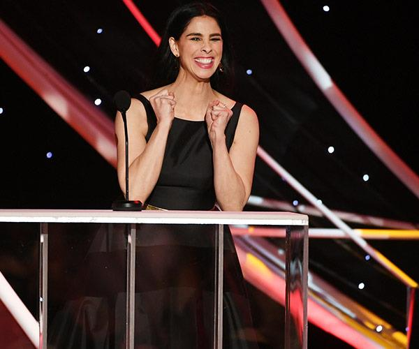Sarah Silverman is just happy to be here.