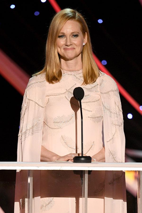 Laura Linney takes a moment to soak it all up.