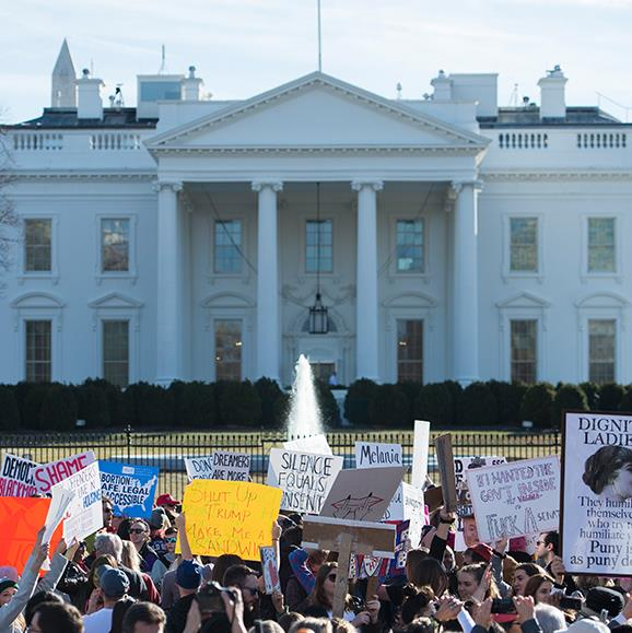 Powerful scenes erupted outside the White House.