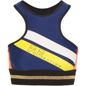 """Feel sexy, stylish and strong in [P.E Nation's The Asset Crop, $119.](https://www.net-a-porter.com/au/en/product/883247/pe_nation/the-asset-crop-metallic-trimmed-stretch-sports-bra