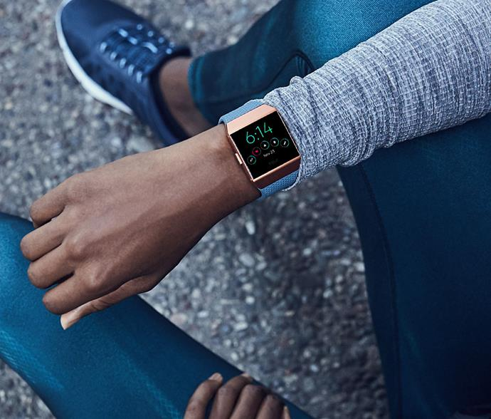 "Track your fitness progress without sacrificing your fashletic side with a [Fitbit Ionic Fitness Watch (Slate Blue/Burnt Orange), $399.](https://www.jbhifi.com.au/ipods-docks-fitness/fitbit/fitbit-ionic-smart-fitness-watch-slate-blue-burnt-orange/499759/|target=""_blank""