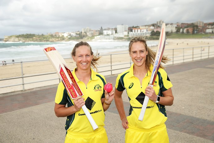 Meg Lanning with fellow cricketing star Ellyse Perry.