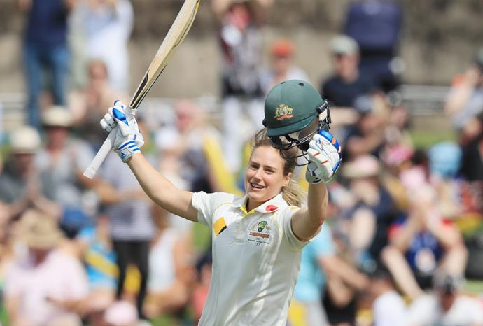 Perry upon scoring her double-century in the Women's Ashes in November.