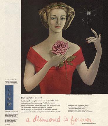 An original De Beers advert.