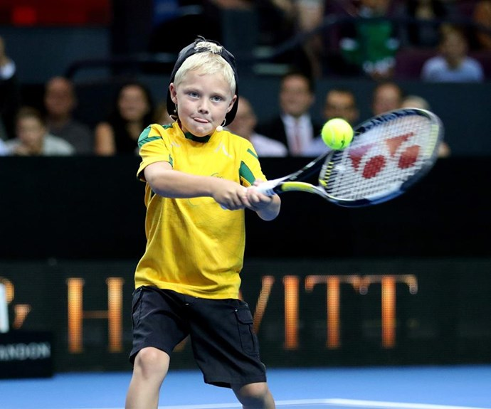 Keeping the Hewitt tennis dynasty alive! The next generation is in safe hands with Cruz.