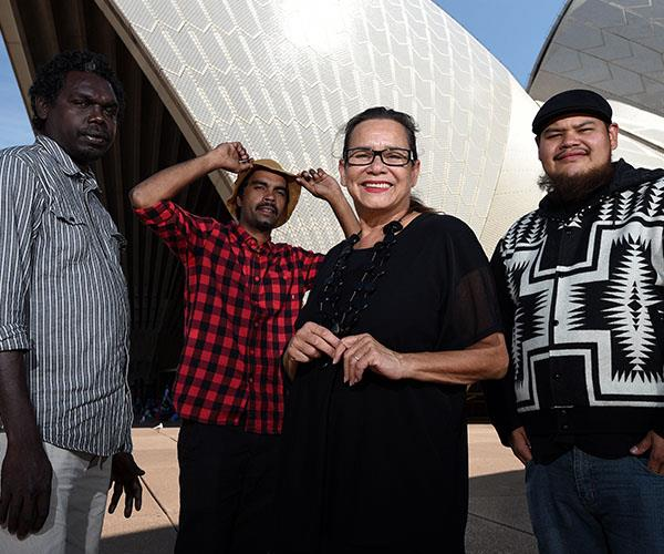Rhoda Roberts, (second from right), talks about why we should move Australia Day from January 26.