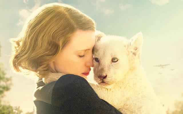 Jessica Chastain in *The Zookeeper's Wife*