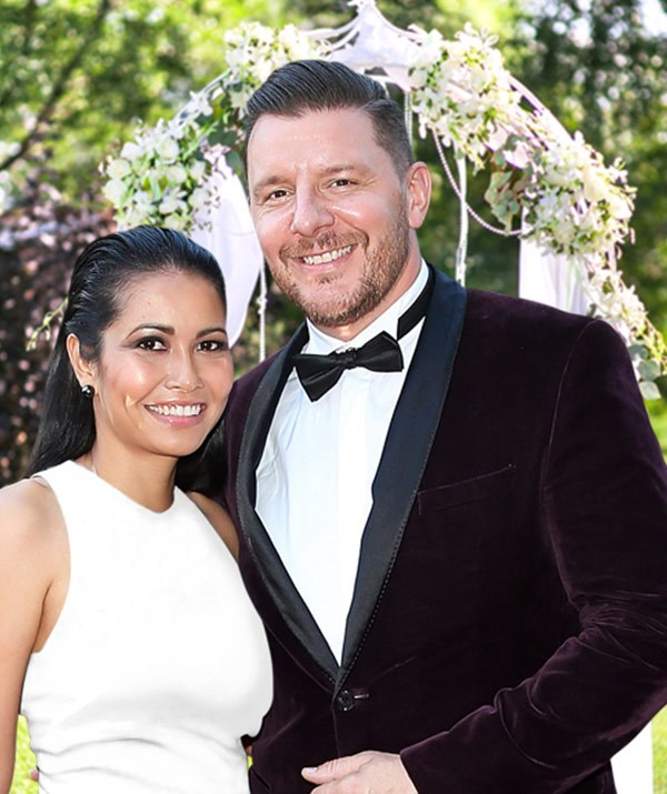 The recipe to love! MKR's Manu Feildel has married long-term love Clarissa Weerasena in an intimate ceremony in Adelaide.