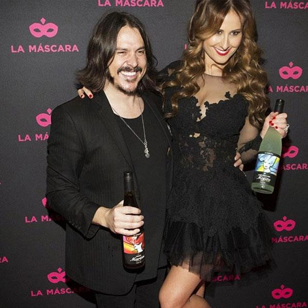 Jackie, pictured with her Silverchair hubby, Ben.