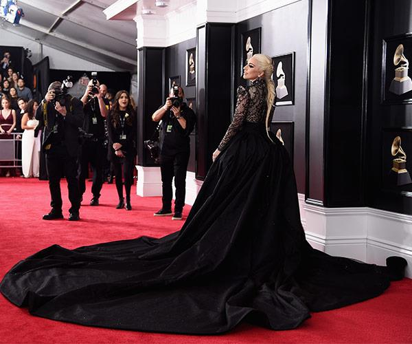 Lady Gaga gives a serious lesson on how to make an entrance.