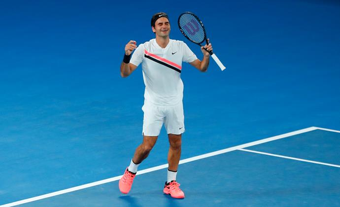 Visibly emotional Roger taking out the 2018 Australian Open last night.