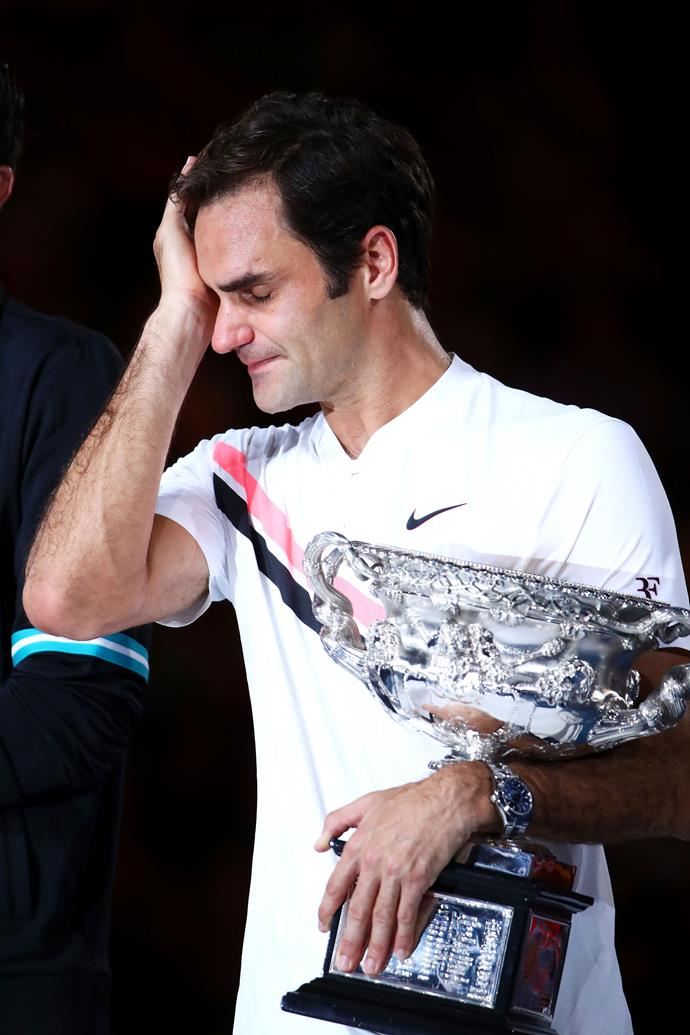 Roger says an overwhelming sense of relief brought on his tears.