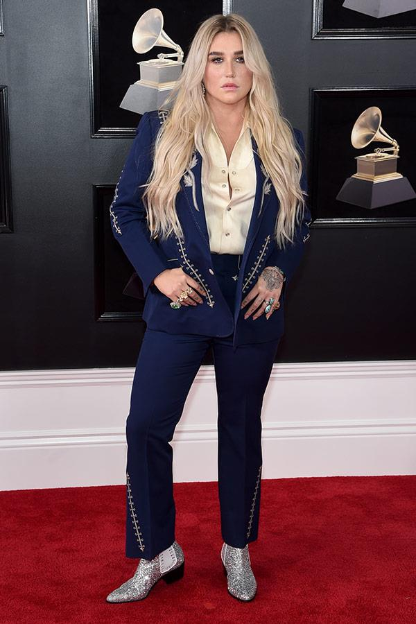 Pop star and new-age warrior Kesha stands tall and proud.