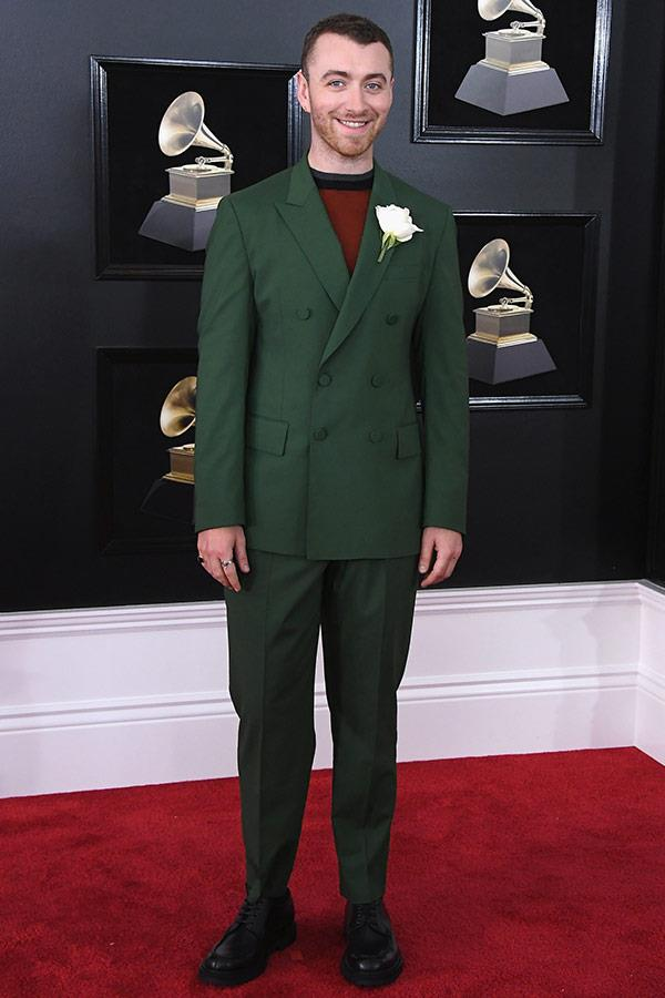 Our soul man Sam Smith proves green is really the new black.