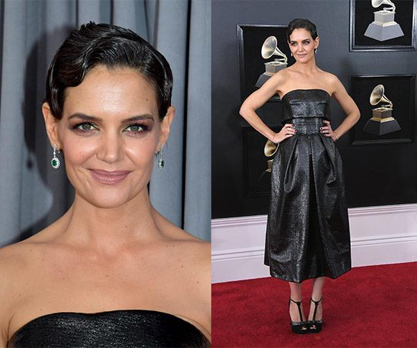 Katie Holmes has stepped out for music's biggest night. And she's channeling 1920's Hollywood perfection!