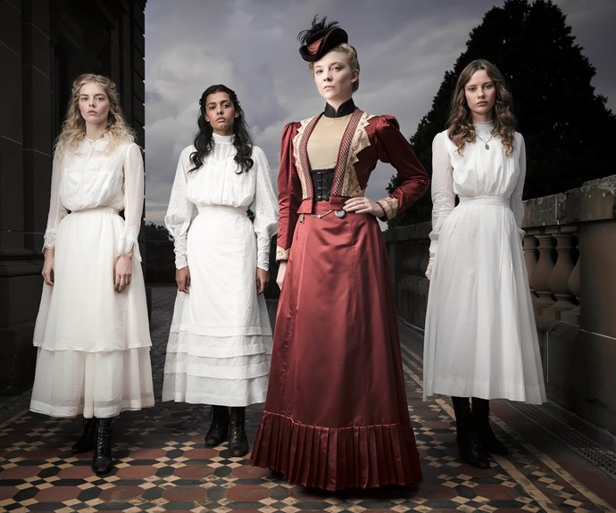 She is also in the remake of *Picnic At Hanging Rock*, with co-stars Madeleine Madden, Natalie Dormer and Lily Sullivan, as well as Yael Stone and Anna McGahan.
