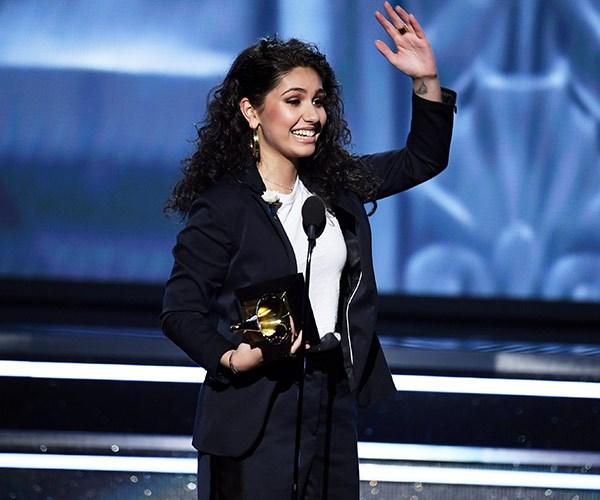 Best New Artist winner Alessia Cara is on cloud nine.