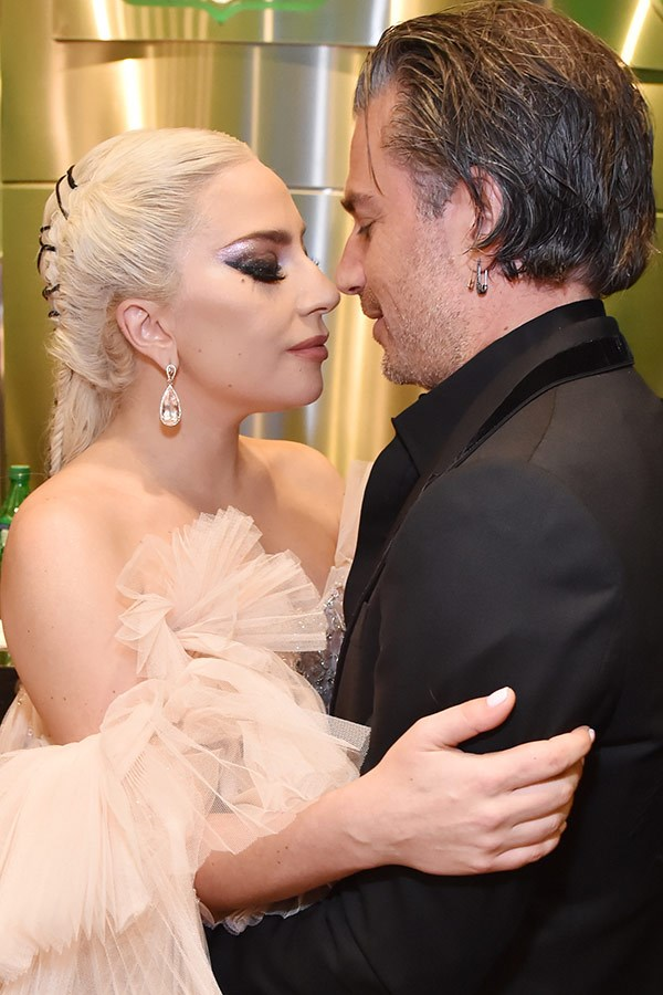 She's in love! Lady Gaga shares a precious moment with her man Christian Carino.