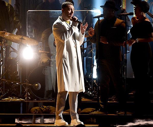Fresh from his Aussie adventure, Sam Smith sings *Pray*.
