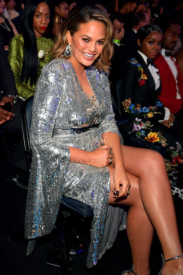 "Following her [stunning red carpet appearance](https://www.nowtolove.com.au/parenting/pregnancy-birth/chrissy-teigen-grammys-2018-red-carpet-dress-44533|target=""_blank"") with hubby John Legend, Chrissy Teigen is ready for a good night!"