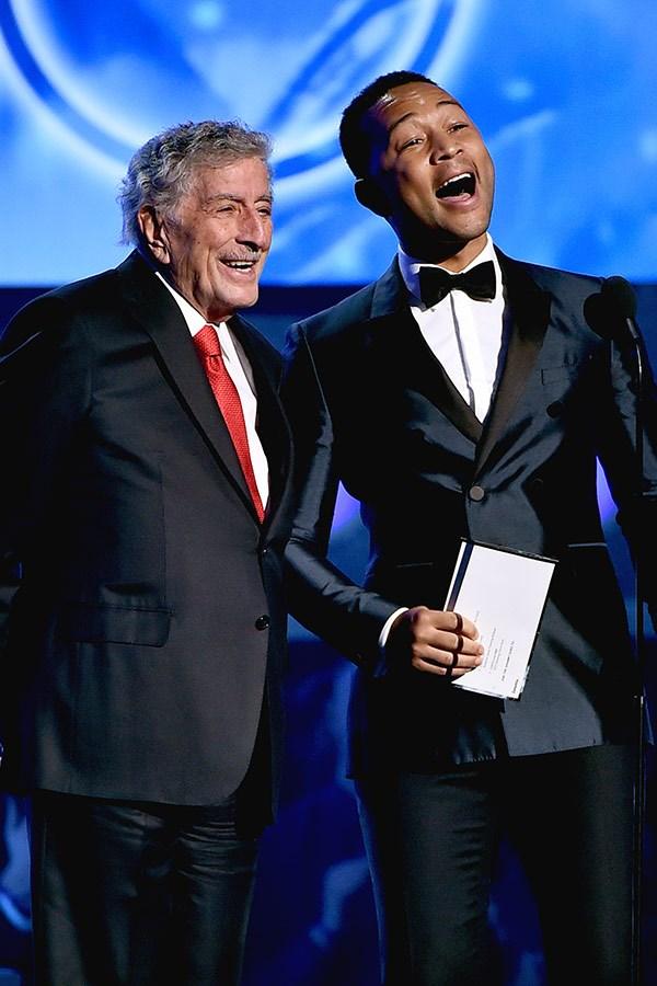 John Legend and Tony Bennett.