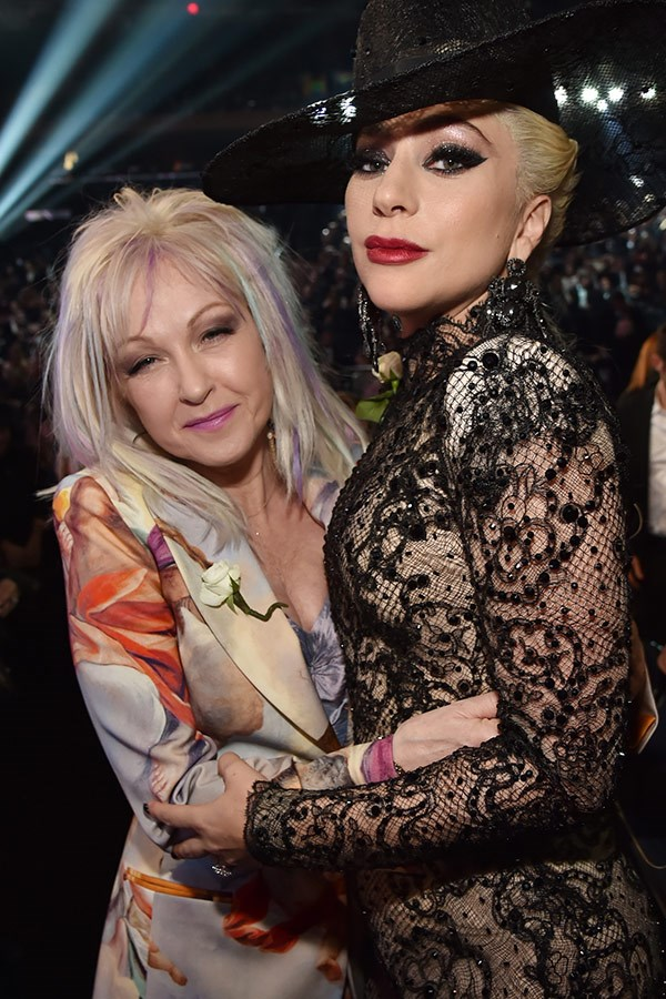 Cyndi and Gaga talking about an upcoming duet, perhaps?