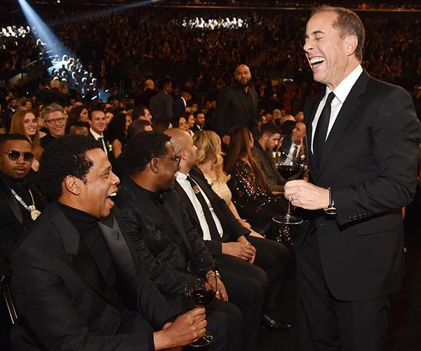 You know you're funny when you can make Jay Z giggle. Good work, Jerry Seinfeld.