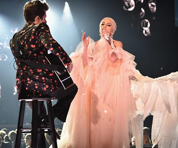 Lady Gaga was supported by her co-collaborator Mark Ronson.