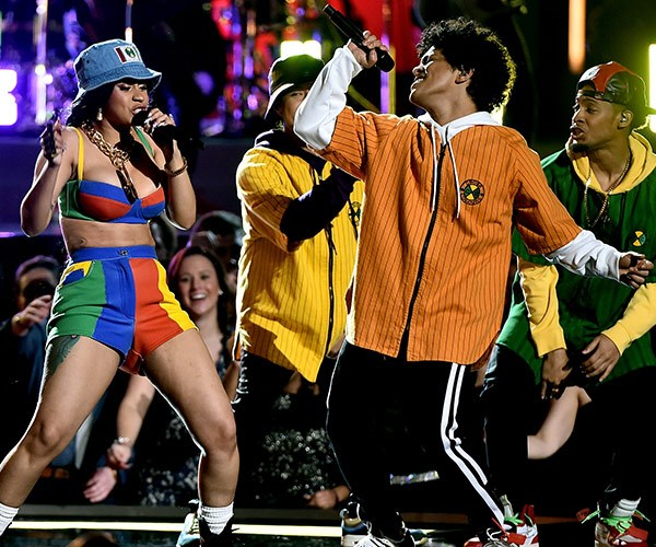 Cardi B and Bruno Mars bring down the house with their energetic performance.