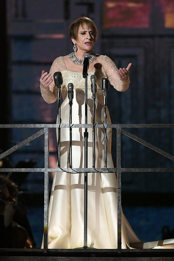 Patti LuPone gives a stirring performance from her iconic portrayal of *Evita*.
