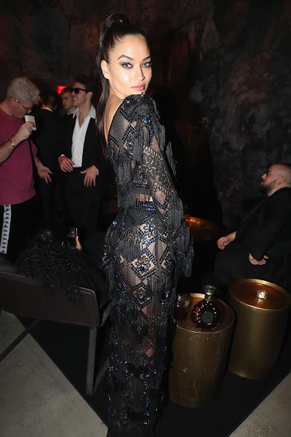 Aussie model Shanina Shaik partied with music industry A-listers.